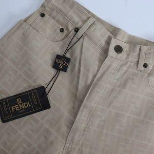 802b73b4bb Fendi Pants | Slim Black Made In Italy Ff Logo | Poshmark